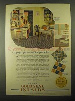 1925 Nairn Gold Seal Inlaid Ad - Pattern No. 51-146
