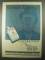 1925 Herbert Tareyton Cigarettes Ad - You'll Like