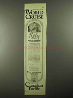 1925 Canadian Pacific Cruise Advertisement