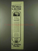 1925 Canadian Pacific Cruise Ad - Greatest Travel