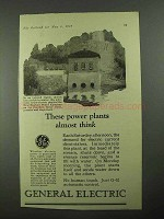 1925 General Electric Ad - Power Plants Almost Think