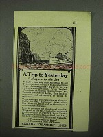1925 Canada Steamship Lines Ad - Trip to Yesterday