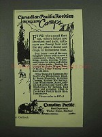 1925 Canadian Pacific Ad - Bungalow Camps