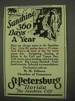 1925 St. Petersburg Florida Ad - Sunshine 360 Days