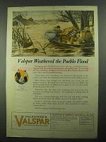 1923 Valentine's Valspar Ad - Weathered Pueblo Flood