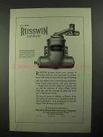 1923 Russwin Door Checks Ad - Distinctive Hardware