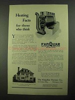 1923 Farquhar Furnace Ad - Heating Facts