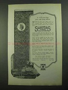 1923 Sanitas Wall Coverings Ad - Can Keep Clean