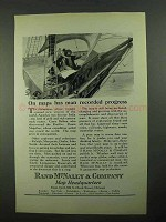 1923 Rand McNally Ad - Maps Man Recorded Progress