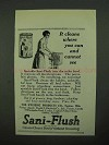 1923 Sani-Flush Cleanser Ad - It Cleans