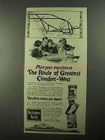 1922 Burlington Route Railroad Ad - Greatest Comfort