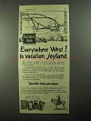 1922 Burlington Route Railroad Ad - To Vacation Joyland