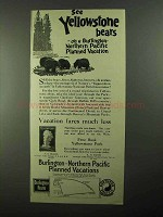 1922 Burlington Northern Pacific Railroad Ad - Bears