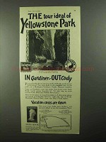 1922 Burlington Northern Pacific RR Ad - Yellowstone