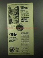 1922 Northern Pacific Railway Ad - Startling Beauty