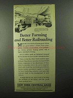 1922 New York Central Ad - Better Farming