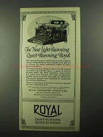 1922 Royal Typewriter Ad - Light-Running Quiet-Running