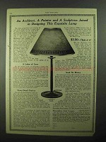 1922 Decorative Arts League Aurora Lamp Ad - Painter