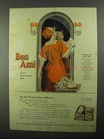 1922 Bon Ami Cleanser Ad - For Mirrors Etc