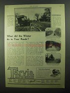 1922 Barrett Tarvia Ad - What Did Winter do to Roads