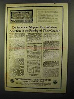 1922 Weyerhaeuser Forest Products Ad, American Shippers