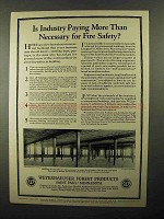 1922 Weyerhaeuser Forest Products Ad - Fire Safety