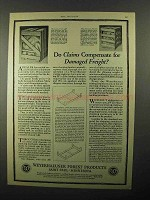 1922 Weyerhaeuser Forest Products Ad - Freight