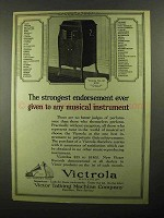 1922 Victor No. 80 Victrola Ad - Strongest Endorsement