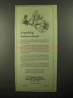 1922 The Equitable Trust Company Ad - Expediting Abroad