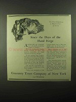 1922 Guaranty Trust Company of New York Ad - Hand Forge