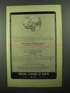 1922 Thos. Cook & Son Ad - Around the World