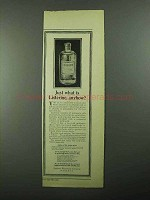 1922 Listerine Antiseptic Ad - Just What is Listerine