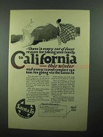 1922 Santa Fe Railroad Ad - Family to California
