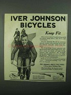1922 Iver Johnson Bicycles Ad - Keep Fit