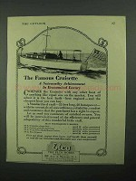 1922 Elco Cruisette Boat Ad - The Famous Cruisette