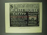 1922 White House Coffee Ad - Real Values