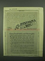 1922 Colgate's Toothpaste Ad - Cleans Teeth Safely