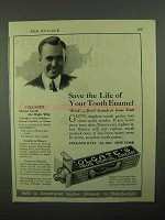 1922 Colgate's Toothpaste Ad - Save Your Tooth Enamel
