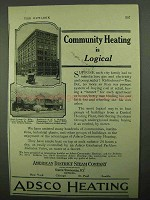 1922 ADSCO Heating Ad - Community Heating is Logical