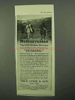 1922 Thos. Cook & Son Ad - To the Mediterranean