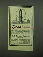 1922 Taylor Instrument Tycos household thermometers Ad