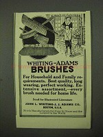 1922 Whiting-Adams Brushes Ad - Household and Family