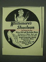 1922 Whittemore Shuclean Shoe Polish Ad