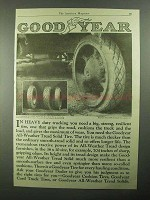 1921 Goodyear All-Weather Tread Solid Tire Ad