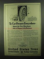 1921 United States Tires U.S. Royal Cord Tires Ad