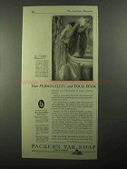 1921 Packer's Tar Soap Ad - Your Personality Your Hair