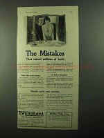 1921 Pepsodent Toothpaste Ad - The Mistakes That Ruined