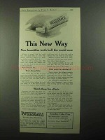 1921 Pepsodent Toothpaste Ad - This New Way