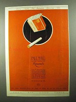 1921 Pall Mall Cigarettes Ad - Famous Rounds