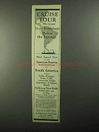 1921 American Express Ad - Cruise Tour this Winter